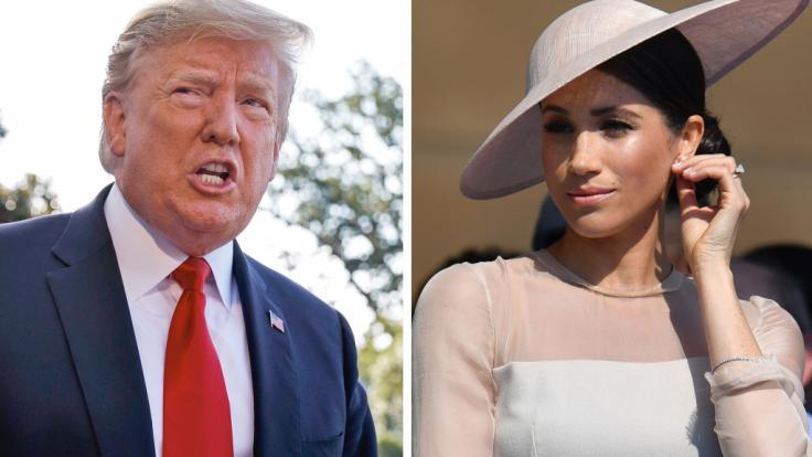 Ob US-Präsident Donald Trump und Herzogin Meghan Markle in diesem Leben noch Freunde werden?