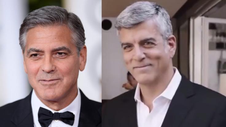 George Clooneys Doppelgänger treibt das Spiel noch weiter - er kopiert seine Kaffee-Werbung.