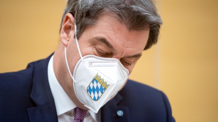 Markus Söder hat den Lockdown bis Ende Januar verteidigt. (Foto)