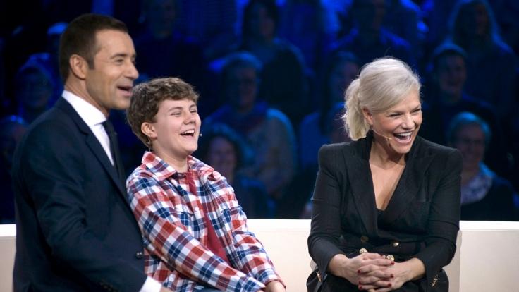 """Ina Müller ist nur eine von vielen Prominenten, die sich besonders begabten Kindern in der ARD-Show """"Klein gegen Groß"""" stellt. (Foto)"""