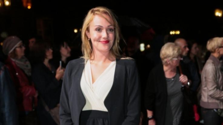 Alwara Höfels bei der Verleihung des Hessischen Film- und Kinopreises 2014.