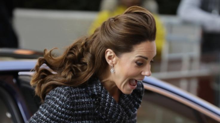 Kate Middleton vom Winde verweht! (Foto)