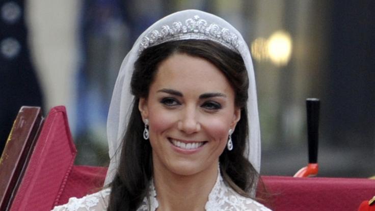 Unverwechselbares Make-Up: Zu ihrer Hochzeit hat Kate Middleton selbst Hand angelegt.