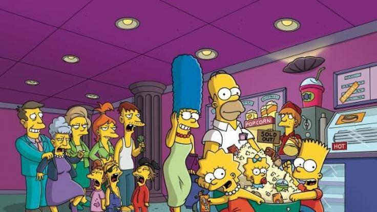 """2007 schafften """"Die Simpsons"""" endlich den Sprung auf die Kinoleinwand. (Foto)"""