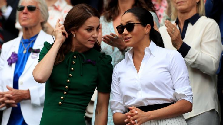 Erst gemeinsam, dann getrennt: Herzogin Kate und Herzogin Meghan.