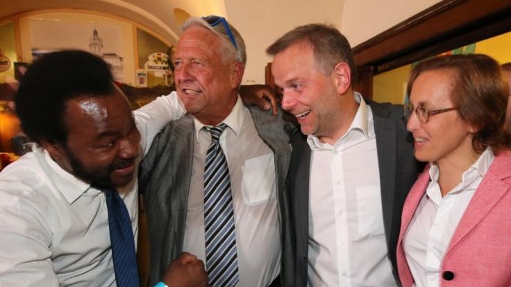 Achille Demagbo (links) sieht keinen Rechtsruck in der AfD. (Foto)