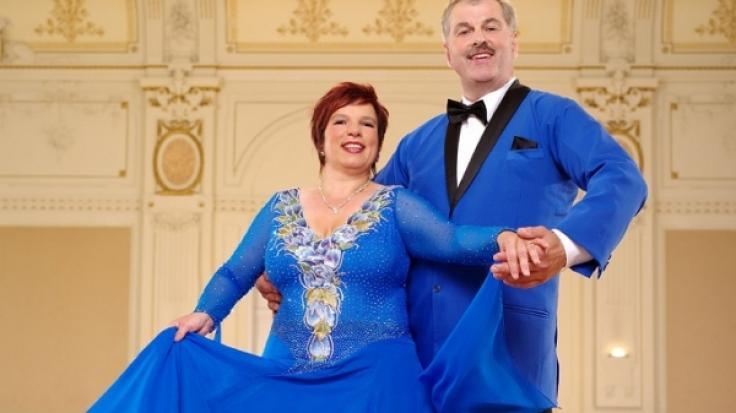 Bruno und Anja Rauh beim Tanztraining. (Foto)