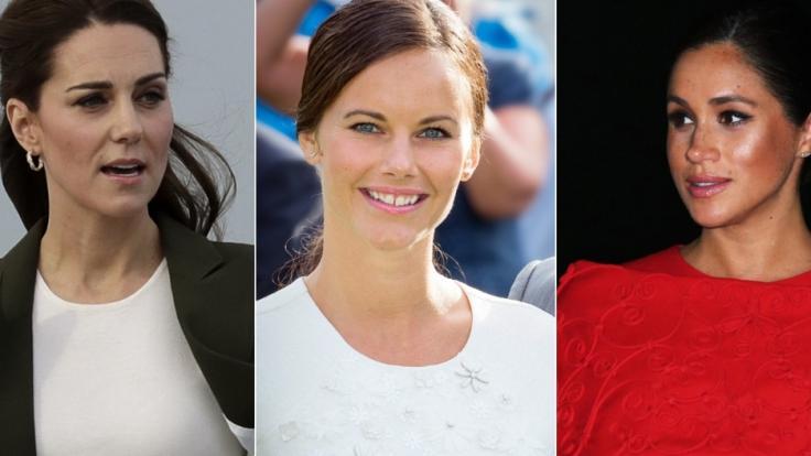 Kate Middleton, Prinzessin Sofia von Schweden und Meghan Markle.