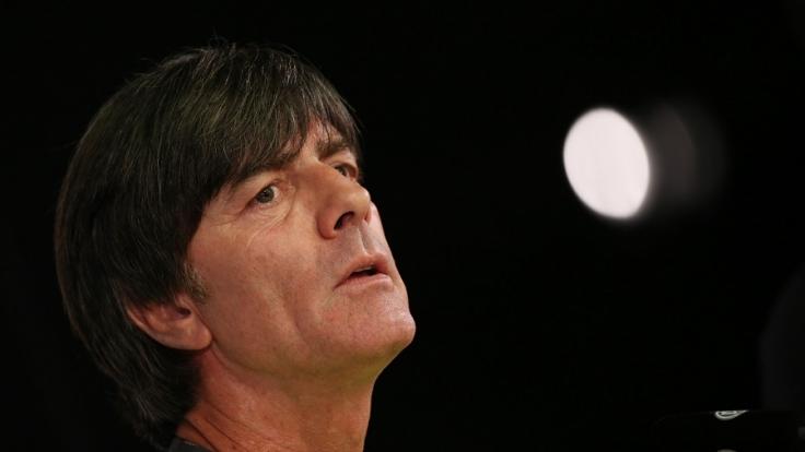 Bundestrainer Joachim Löw bei der Pressekonferenz vor dem Länderspiel gegen England in Berlin.