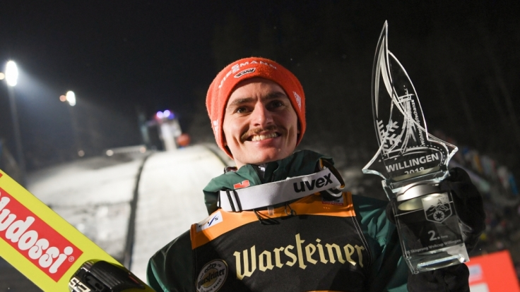 Skispringer Richard Freitag holte beim Weltcup 2018 in Willingen den zweiten Platz.