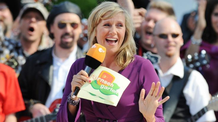"Andrea Kiewel moderiert den ""ZDF-Fernsehgarten"" (Foto)"