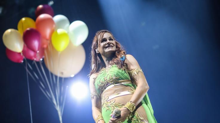 Andrea Berg während des Konzertes in Stuttgart. (Foto)
