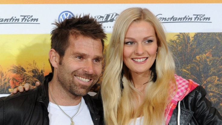 Miriam Höller (r.) und ihr verstorbener Freund Hannes Arch bei einer Filmpremiere im Jahr 2012.