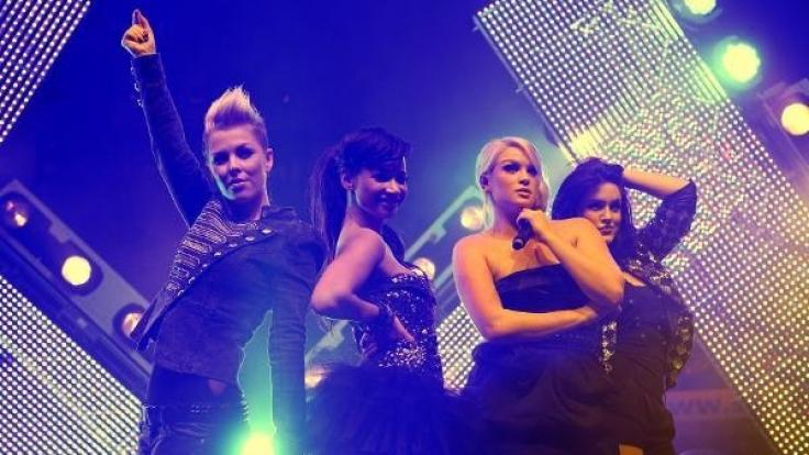 Leo (l-r), Gabriella, Vici und Antonella von der Band Queensberry. (Foto)
