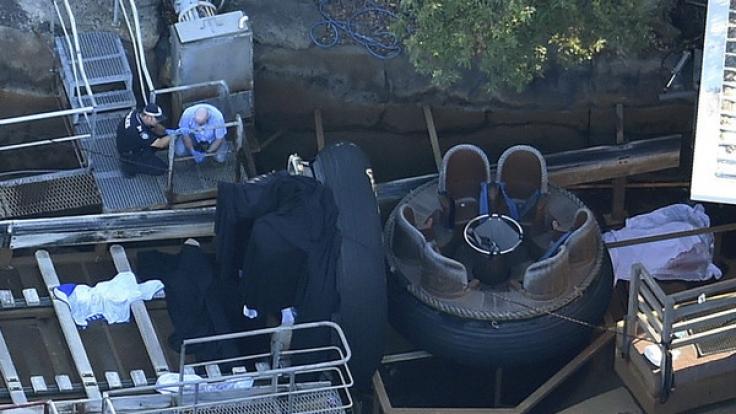 In der Wildwasserbahn passierte der schreckliche Unfall.