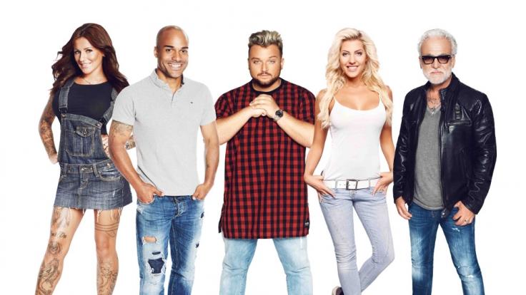 """Sie standen im Finale von """"Promi Big Brother"""" 2015 (von links): JJ, David, Menowin, Sarah und Nino. (Foto)"""