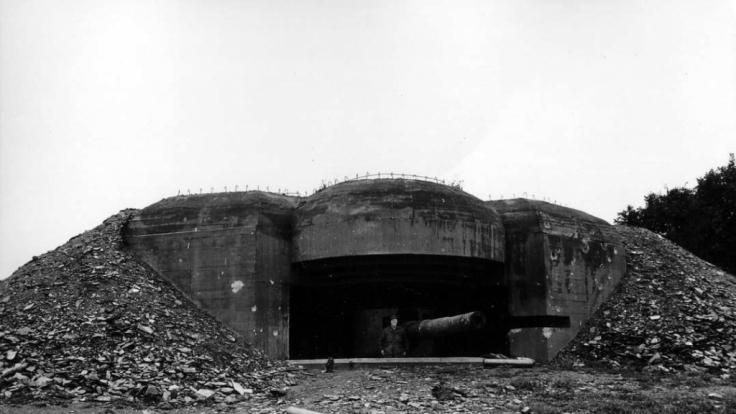 So sah die Batterie York in der Normandie im Jahr 1844 aus. (Foto)