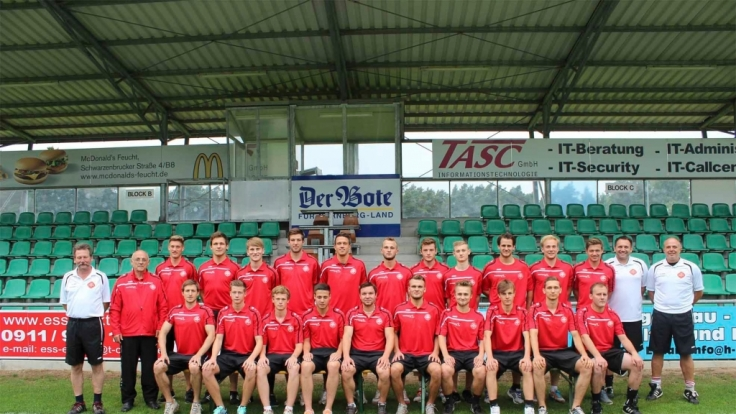 Die Herrenmannschaft des SC Feucht in voller Pracht. (Foto)