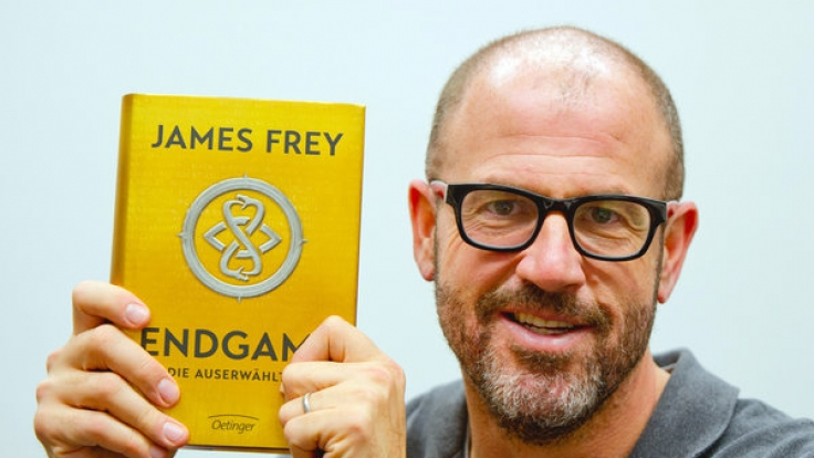 Autor James Frey stellte im November den Science-Fiction-Roman Endgame in Hamburg vor.