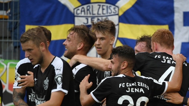 Spieler des FC Carl Zeiss Jena. (Foto)