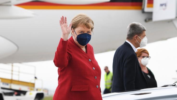 Angela Merkel leistete sich einen peinlichen Patzer bei der Ankunft in Cornwall. (Foto)