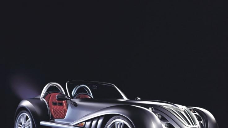 Der von Irmscher kreierte Roadster hat eine Graphit-Sonderlackierung in matt. Damit kommt der 204 PS starke Wagen auch optisch einzigartig daher. (Foto)