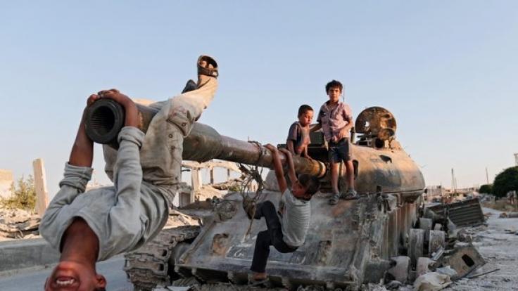 Kinder in Syrien: Das von Terror und Krieg überzogene Land ist laut Global Peace Index das unfriedlichste der Welt. (Foto)
