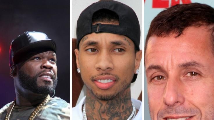 50 Cent, Tyga und Adam Sandler hatten keine gute Woche. (Foto)
