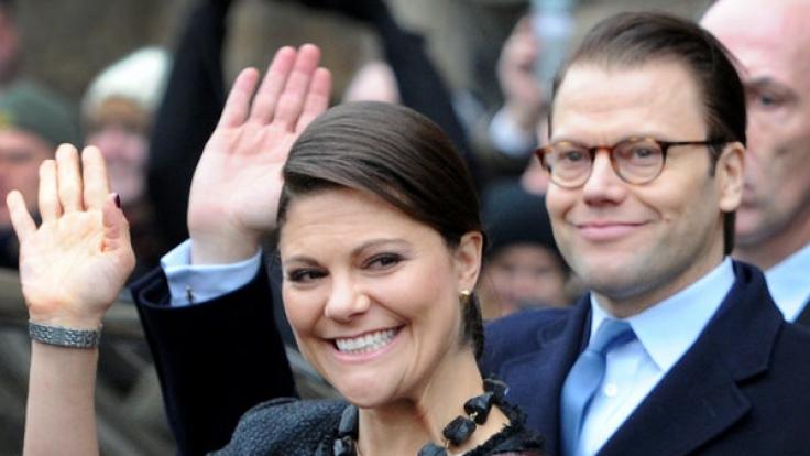 Kronprinzessin Victoria von Schweden und Ehemann Prinz Daniel. (Foto)