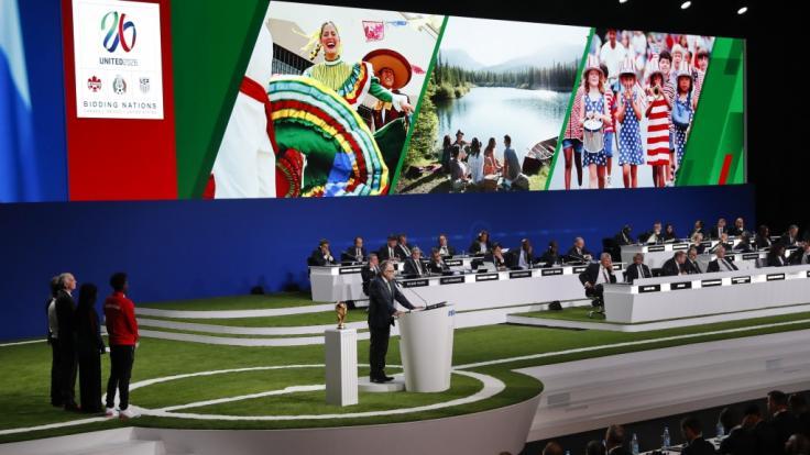 Die Fußball-WM 2026 wird in den USA, Kanada und Mexiko stattfinden. (Foto)