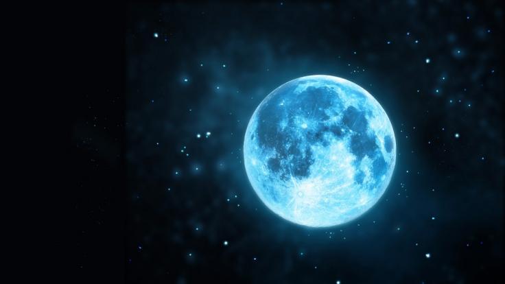 "An Halloween leuchtet ein seltener ""Blue Moon"" am Himmel. (Foto)"