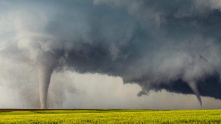 Im Frühjahr kommt es vermehrt zu Typ-2-Tornados. (Foto)