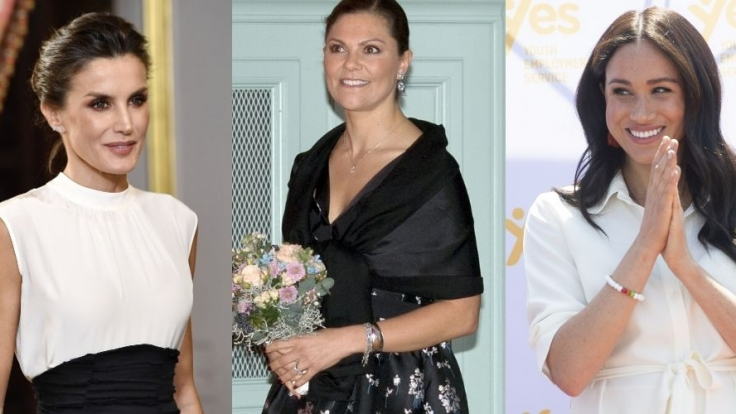Königin Letizia von Spanien, Kronprinzessin Victoria von Schweden und Meghan Markle fanden sich allesamt in den Royals-News wieder. (Foto)