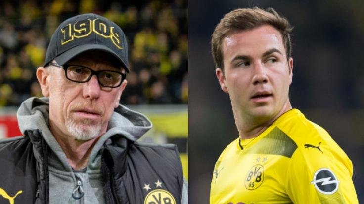 Peter Stöger hat nach dem Europa League-Debakel heftig gegen BVB-Profi Mario Götze ausgeteilt. (Foto)