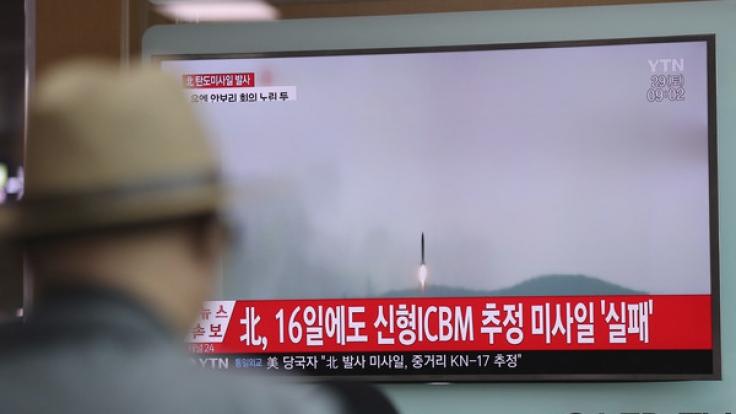 Ein erneuter Raketentest von Nordkorea soll fehlgeschlagen sein.