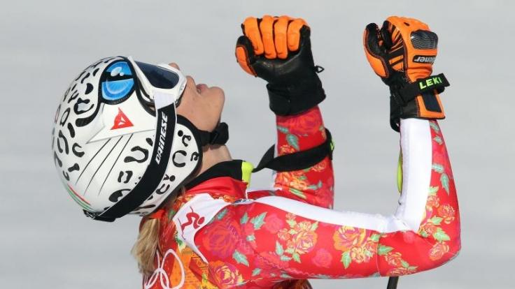 Kann sie noch einmal jubeln? Maria Höfl-Riesch vor ihrem letzten olympischen Rennen.