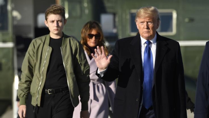 Barron Trump kopiert Outfit seiner Mutter