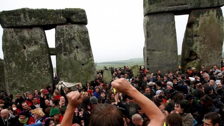 Stonehenge-Mittsommerfest unter schärfster Polizeikontrolle. (Foto)