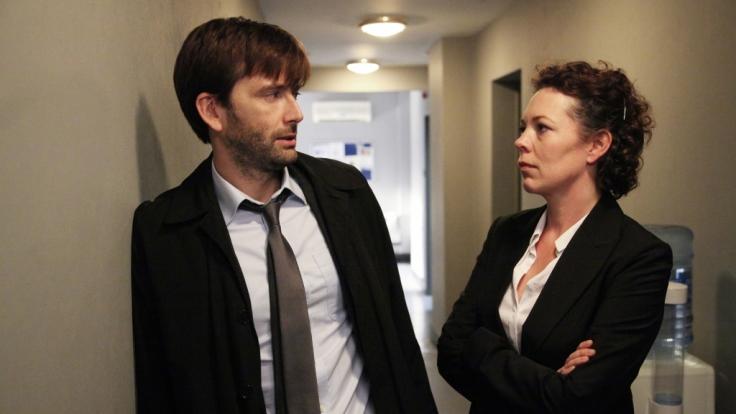 Sind nicht immer einer Meinung: Sergeant Ellie Miller (Olivia Coleman) und ihr neuer Chef Alec Hardy (David Tennant). (Foto)