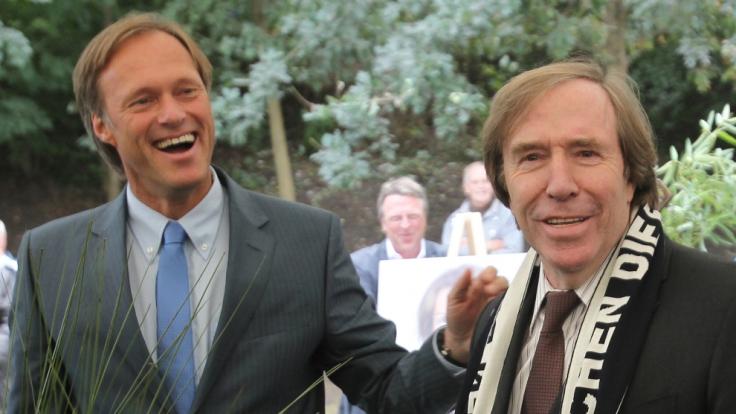 Eine ungleiche Freundschaft: Gerhard Delling und Günter Netzer.