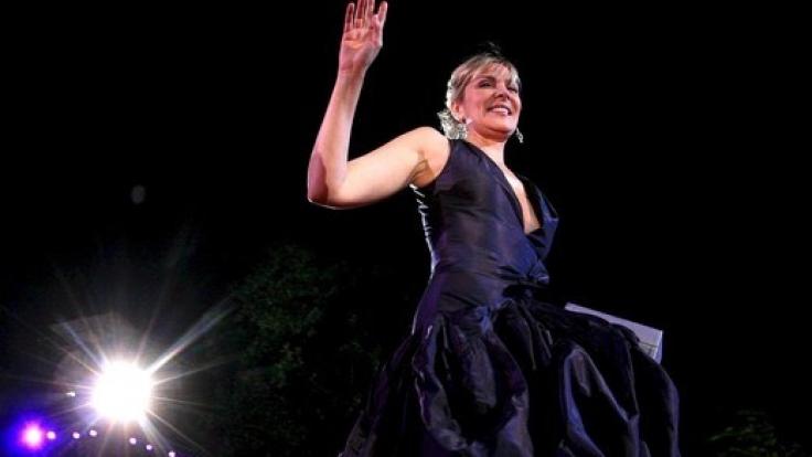 Auch Stars aus Hollywood wieKim Cattrall nehmen jedes Jahr am Life Ball teil. (Foto)