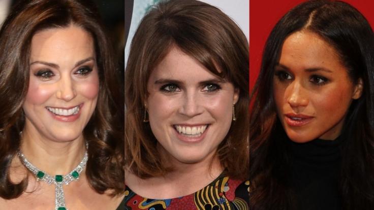 Herzogin Kate, Prinzessin Eugenie und Meghan Markle fanden sich in der vergangenen Woche allesamt in den Royals-News wieder. (Foto)