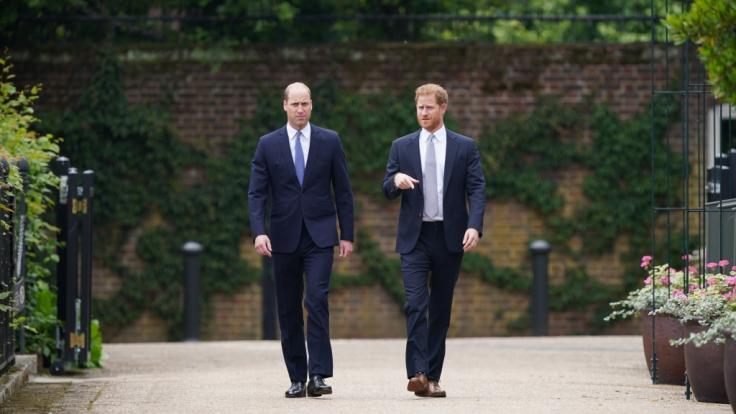 Gemeinsam Auftritte von Prinz William und Prinz Harry sind selten geworden. Für ihre verstorbene Mutter machten sie eine Ausnahme. (Foto)