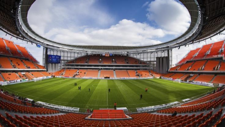 Die Jekaterinburg Arena ist eines der Fußballstadien der WM 2018 in Russland. (Foto)