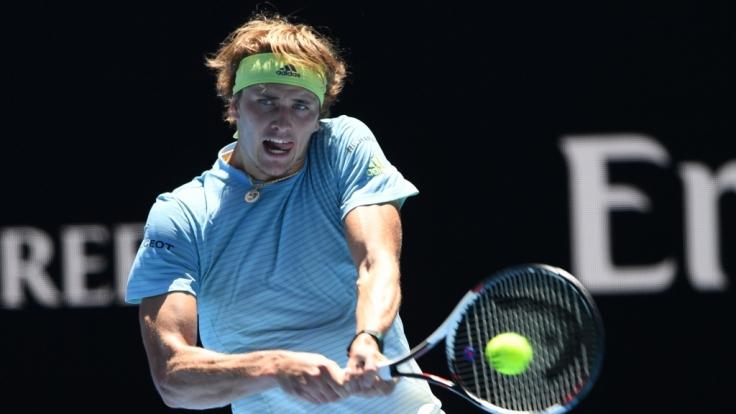 Alexander Zverev schaffte den Sprung in die nächste Runde bei den Australian Open 2018.