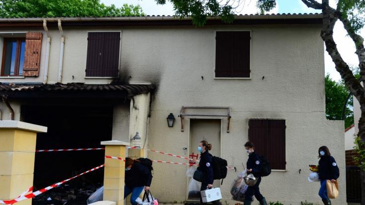 In Frankreich wurde eine Frau erst angeschossen und danach angezündet. (Foto)