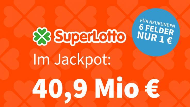 Bei dem italienischen Lottogiganten Superlotto liegen am Dienstag 40,9 Mio. € im Jackpot.