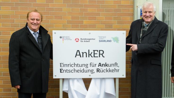 Besonders Horst Seehofer (r.) drängte auf die Einführung von Ankerzentren.