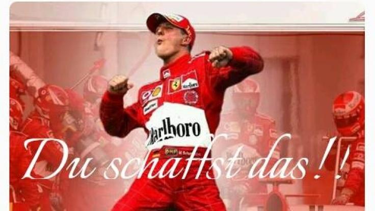 Schumi-Fan Silvia Werheit postete dieses Bild auf der Facebook-Seite von Michael Schumacher.