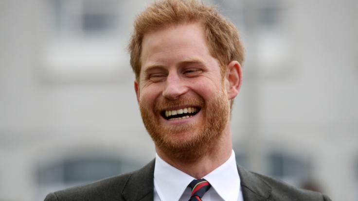 Da hat Prinz Harry allen Grund zum Lachen.